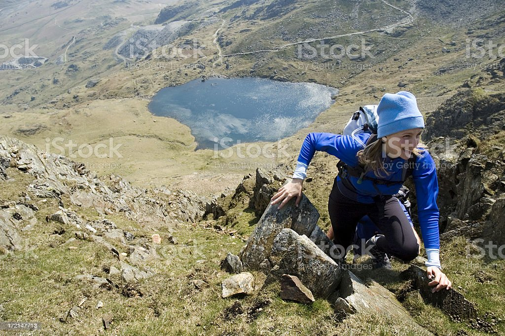 Climbing High stock photo