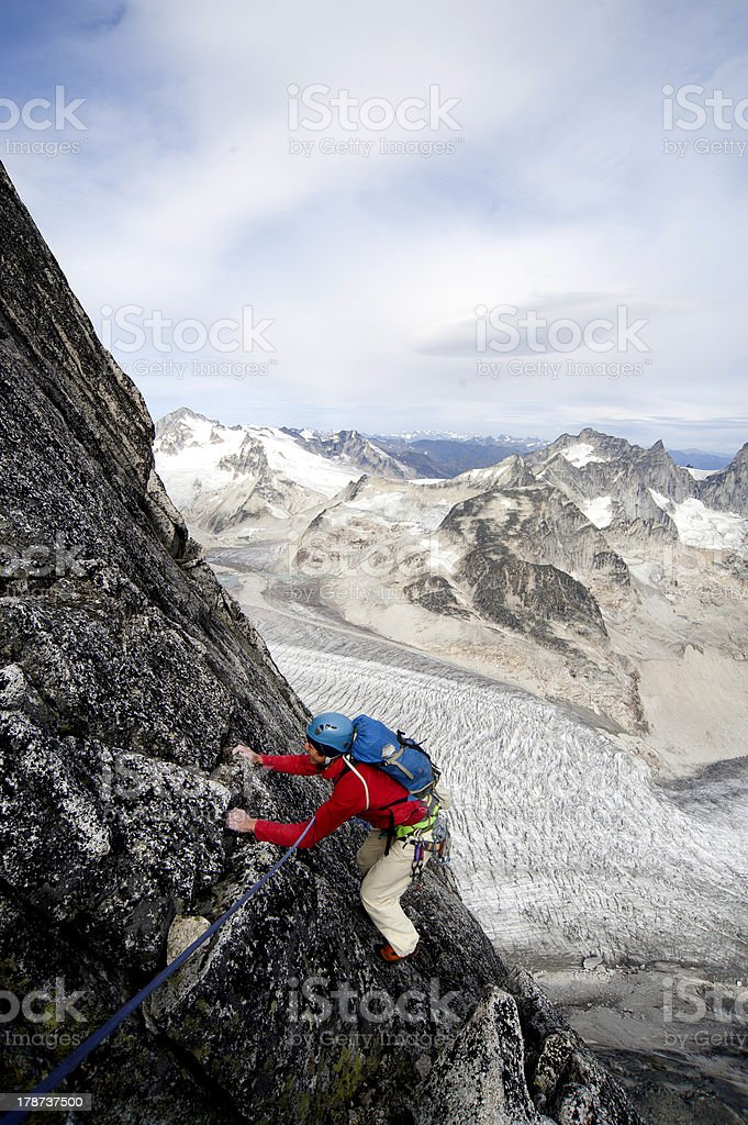 Climbing in Candad royalty-free stock photo