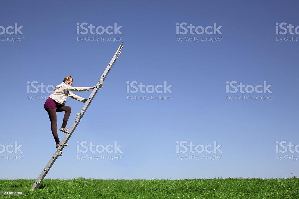 Climbing stock photo