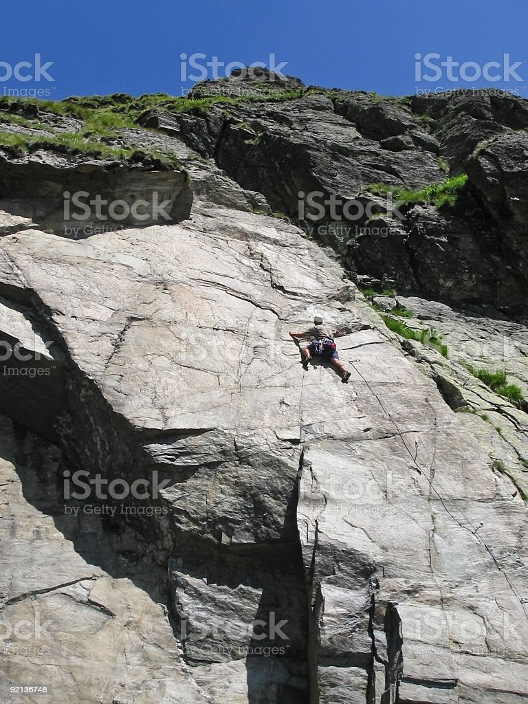 Climbing royalty-free stock photo