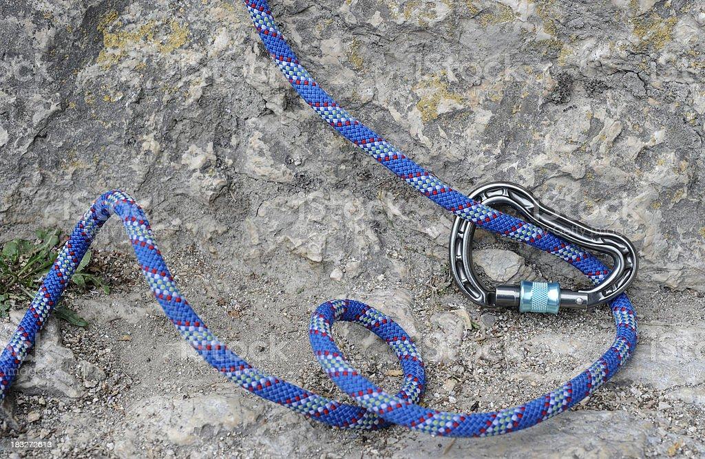 Climbing rope royalty-free stock photo