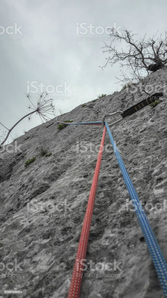 Climbing rope stock photo