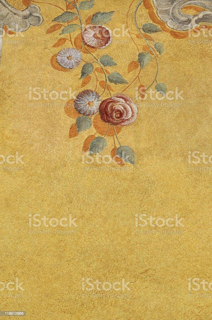 Kletterrose Enten-Muster auf die Wand Lizenzfreies stock-foto