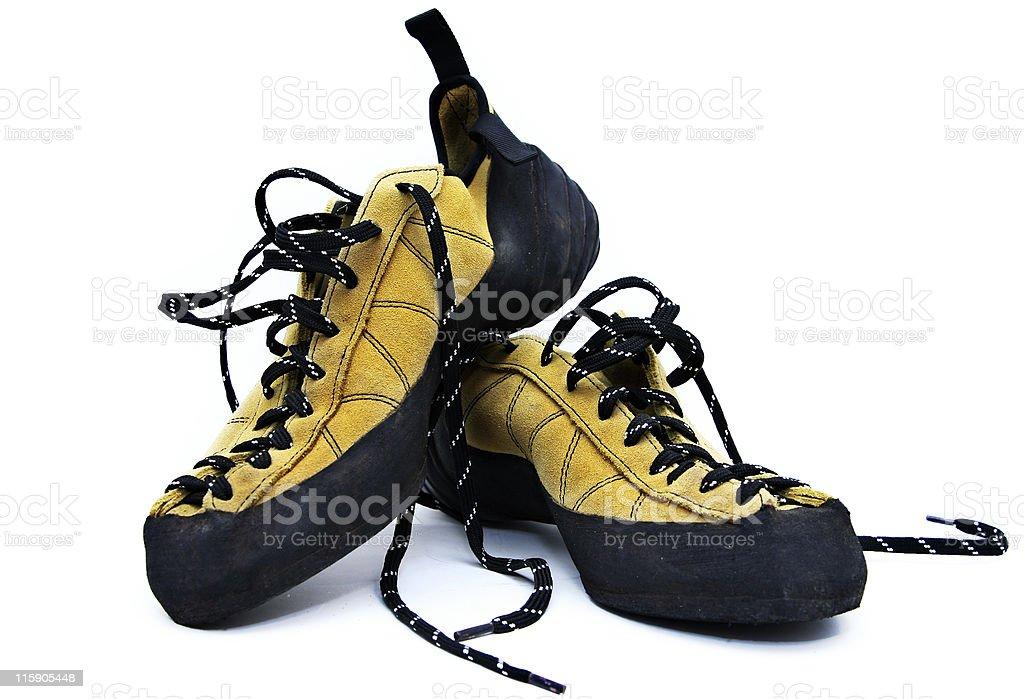 climbing shoes stock photo