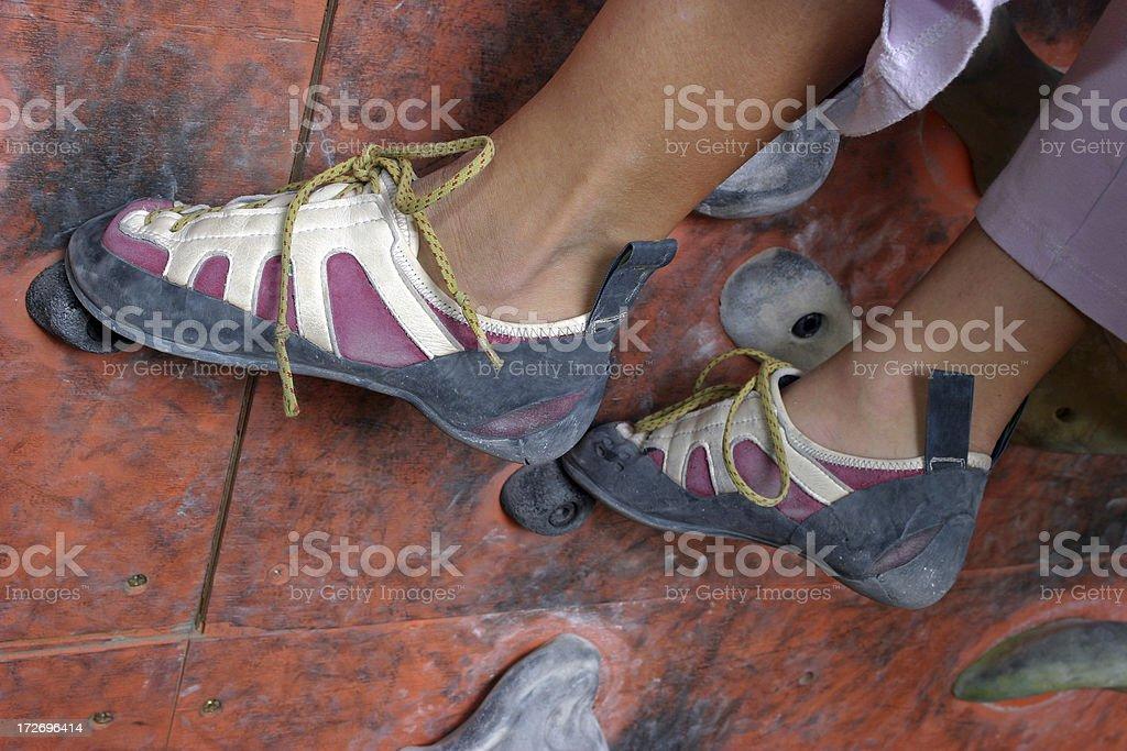 Climbing shoes royalty-free stock photo