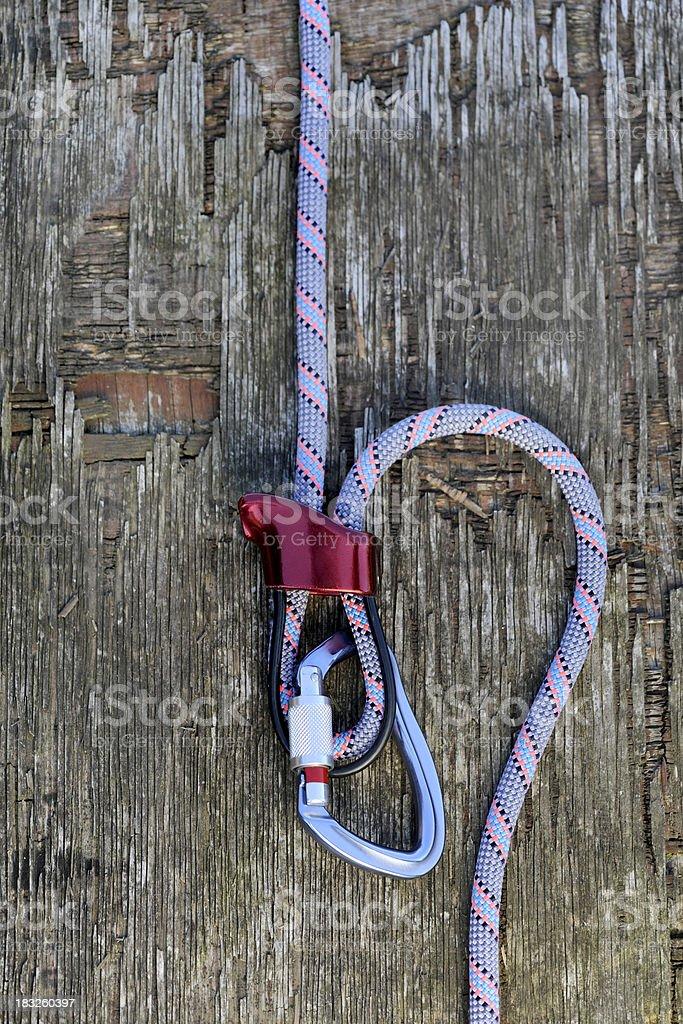 Climbing technique royalty-free stock photo