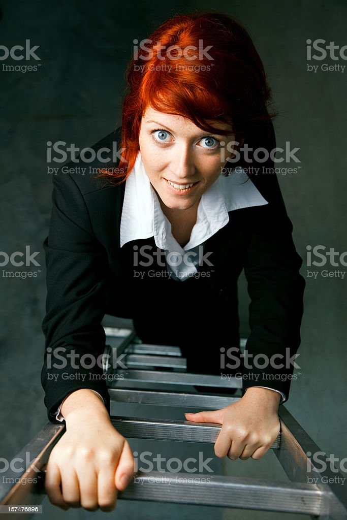 climbing the career ladder royalty-free stock photo