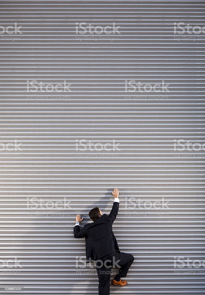 Climbing the Corporate Ladder royalty-free stock photo