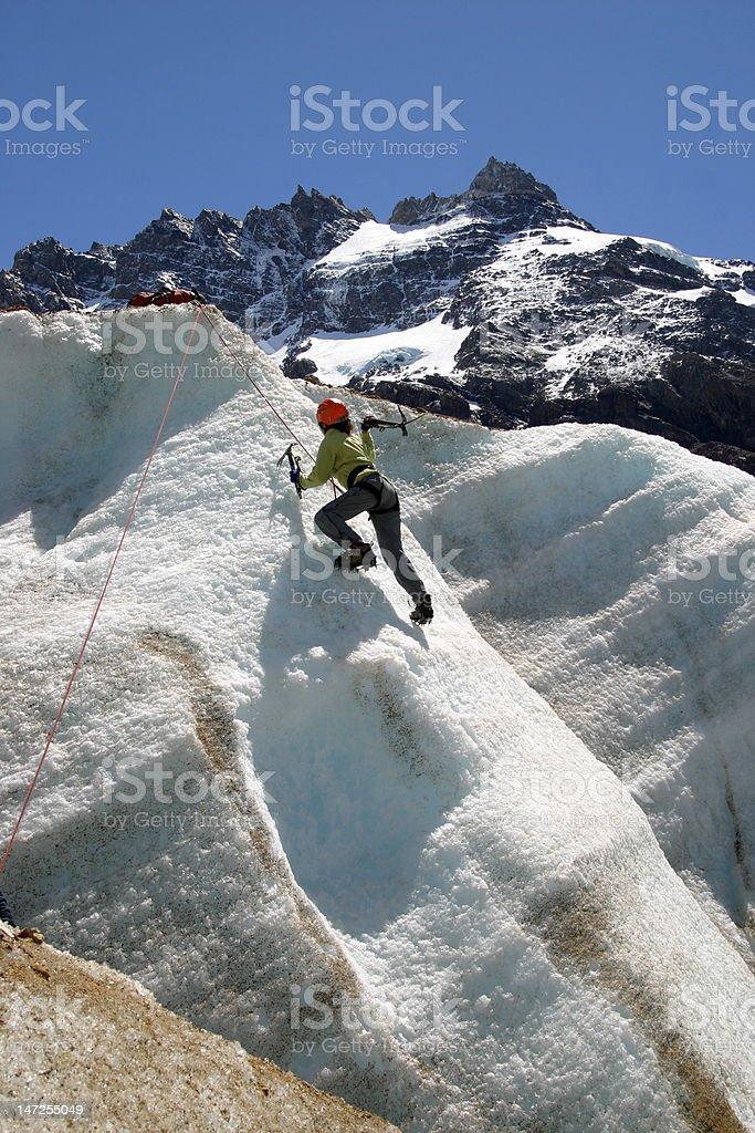 Climbing The Ice royalty-free stock photo