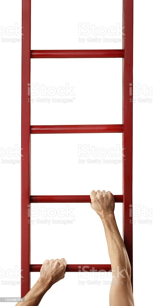 Climbing the Ladder of Success royalty-free stock photo