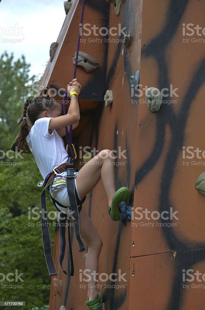 Climbing the wall, Child, Sports & Fitness, Rock royalty-free stock photo