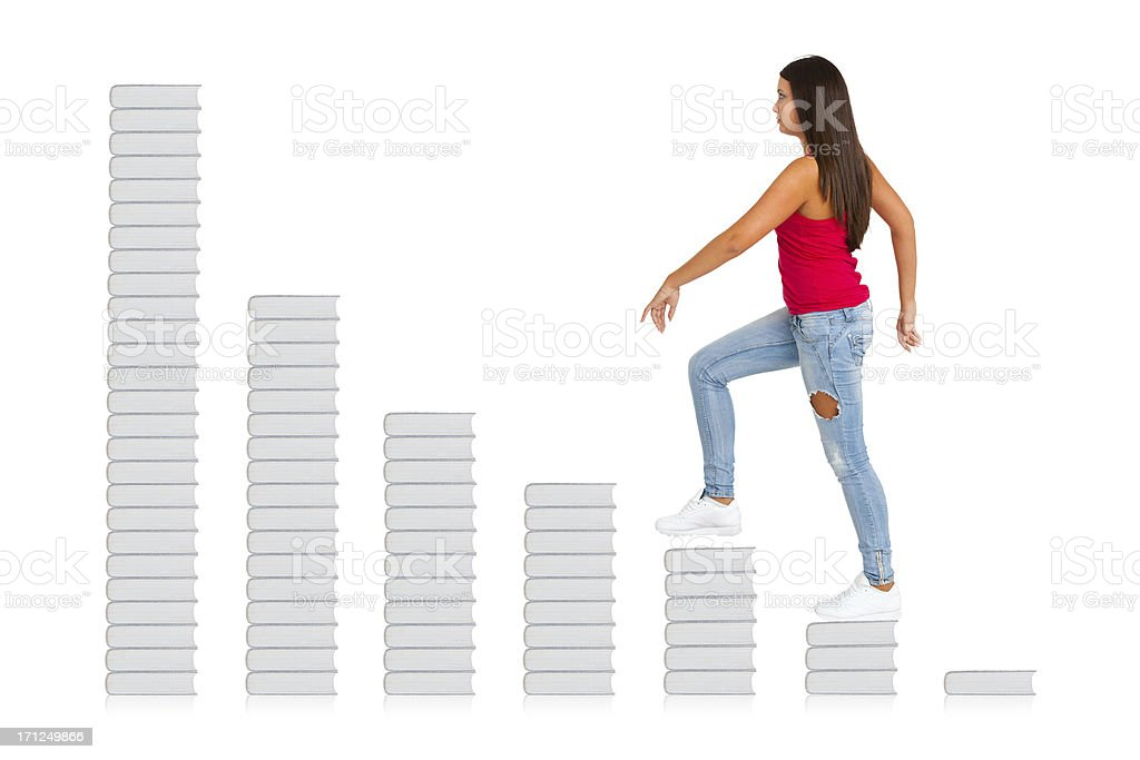 Climbing to knowledge royalty-free stock photo