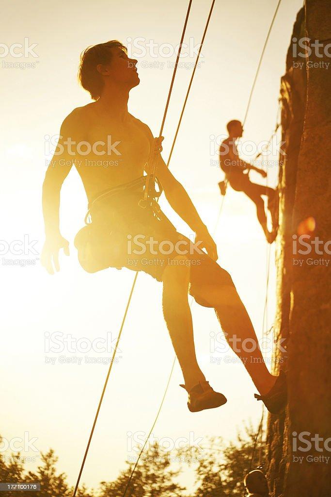 Climbing Training royalty-free stock photo