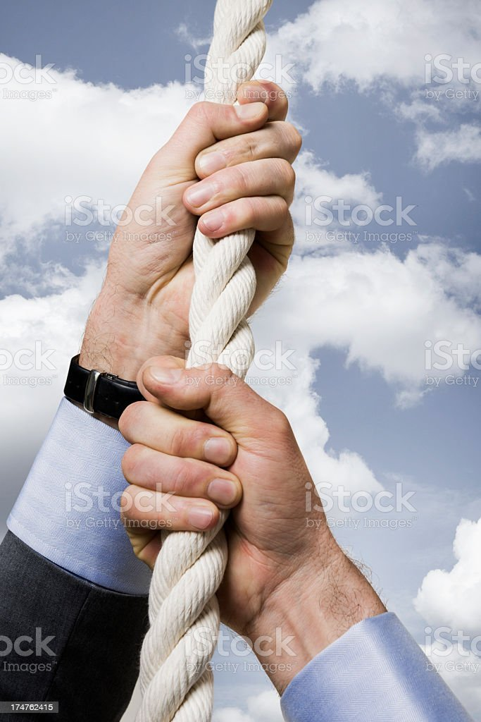 Climbing up royalty-free stock photo