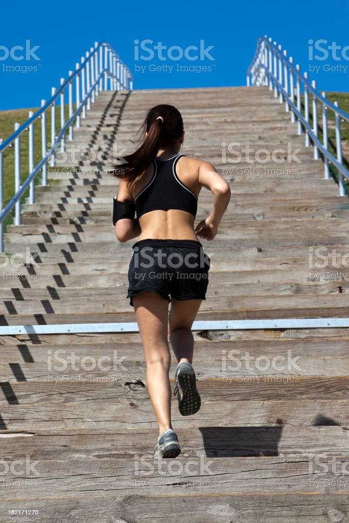 Climbing up Stairs royalty-free stock photo