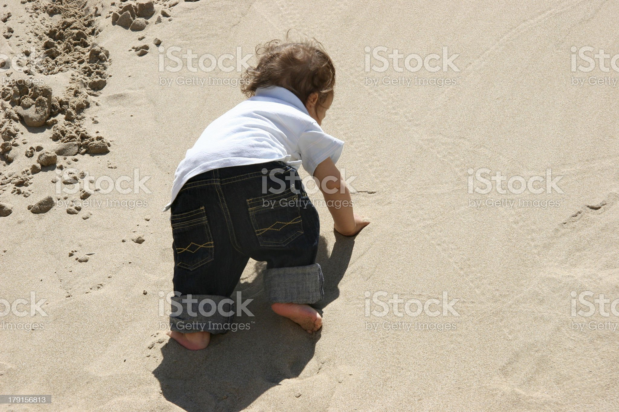 Climbing Up The Dunes royalty-free stock photo