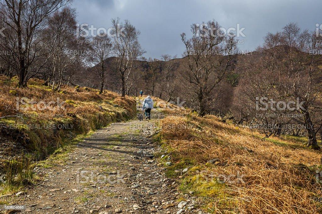 Climbing Uphill stock photo