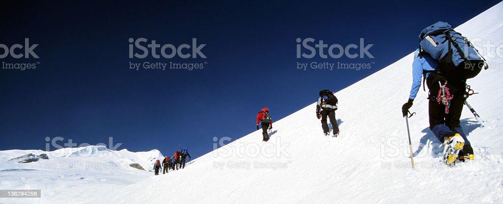 Climbing upwards royalty-free stock photo