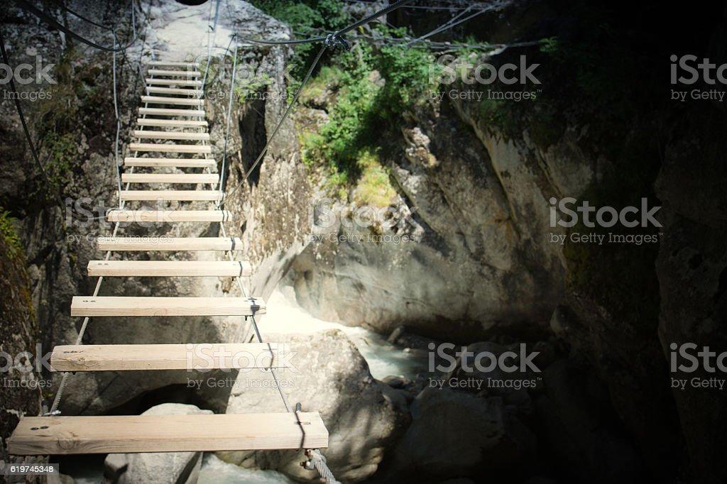 Climbing Via Ferrata stock photo