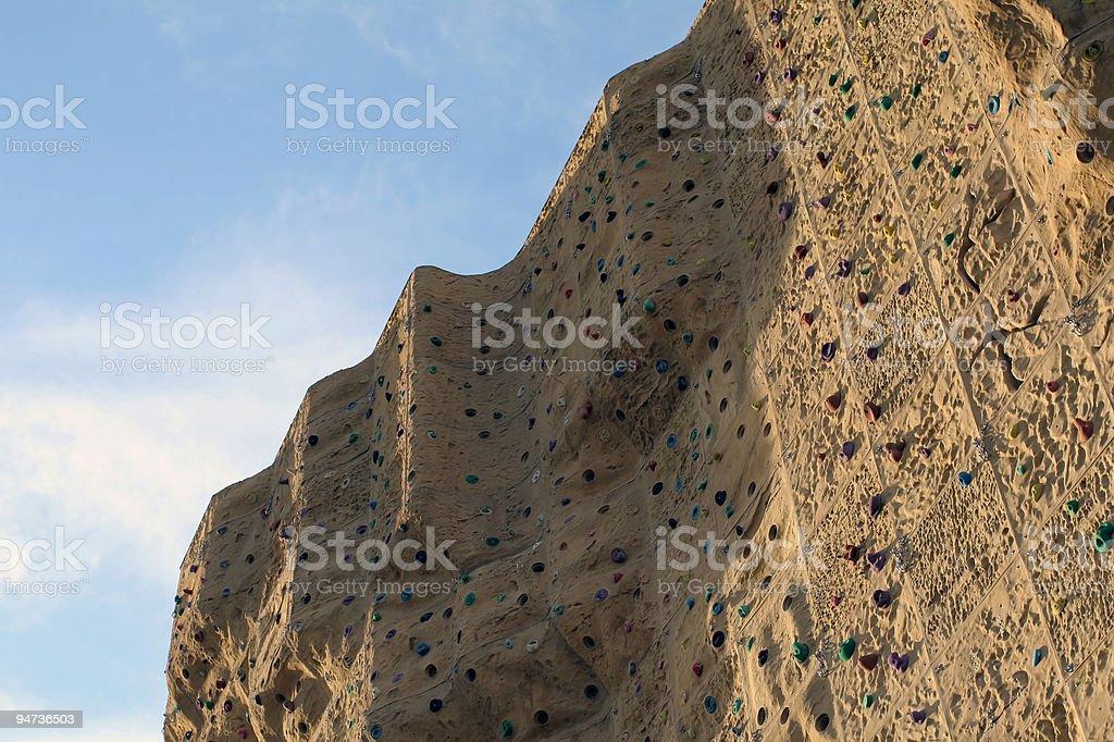 Climbing Wall Detail royalty-free stock photo