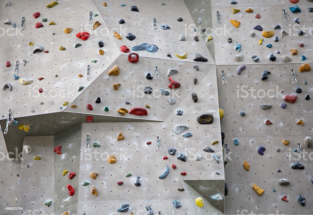 Climbing Wall for indoor and outdoor use stock photo