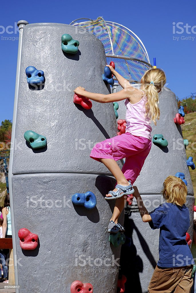 Climbing wall royalty-free stock photo