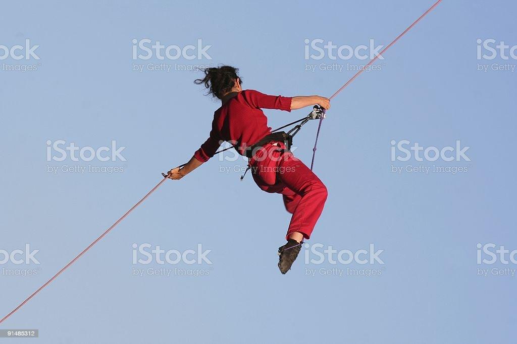 Climbing woman royalty-free stock photo