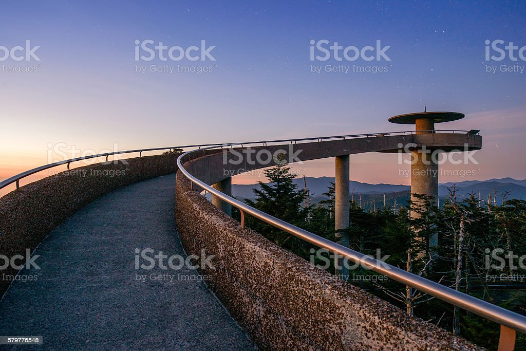 Clingman's Dome in the Smoky Mountains stock photo