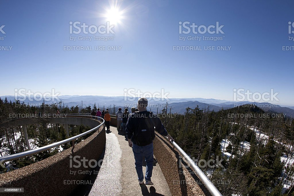 Clingmans Dome Observation Tower stock photo