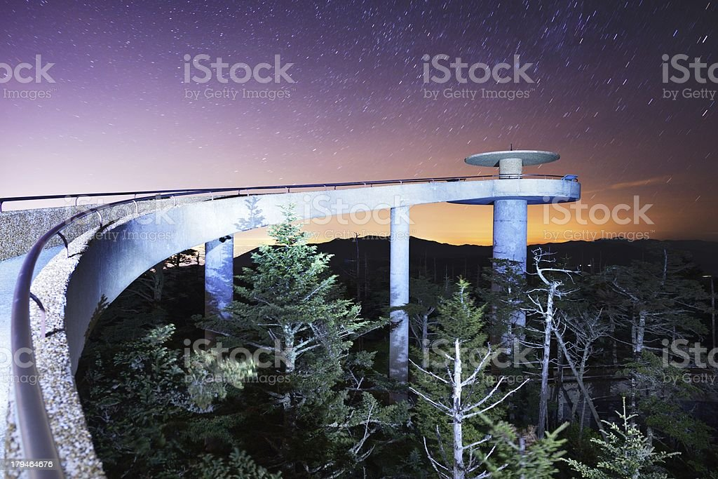 Clingman's Dome stock photo