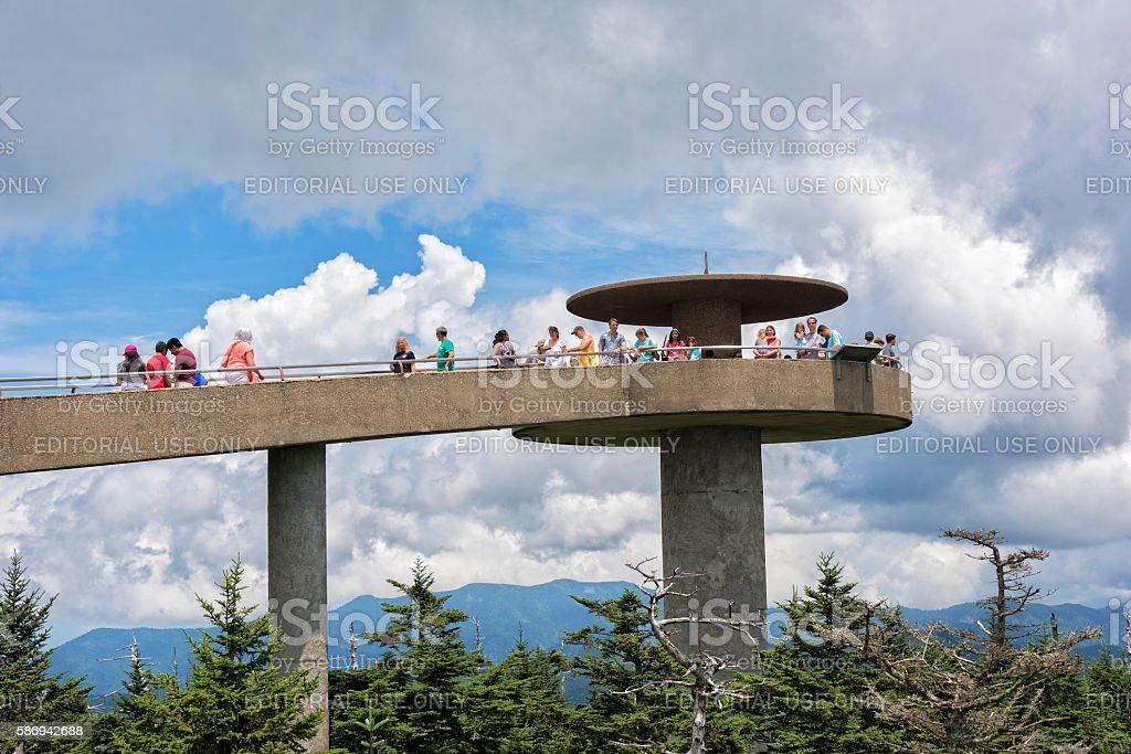 Clingman's Dome stock photo