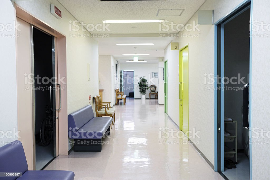 Clinic corridor royalty-free stock photo
