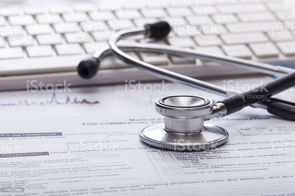 Clinic, data, paperwork stock photo