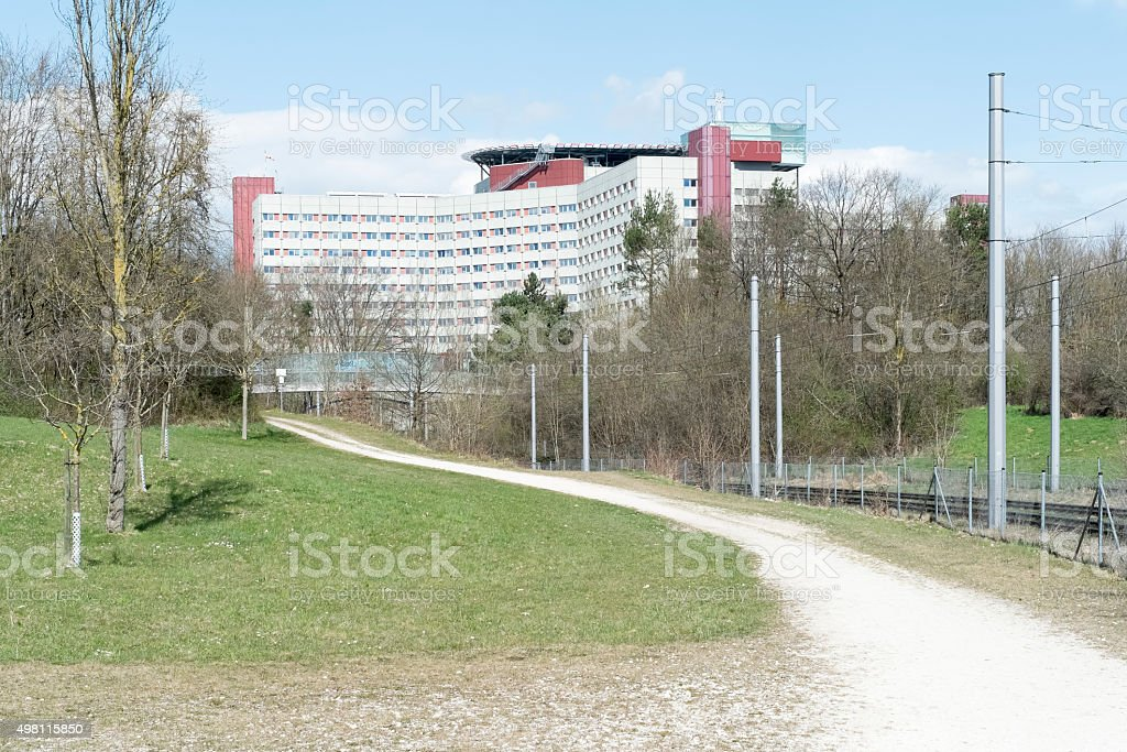 Clinic in Augsburg stock photo