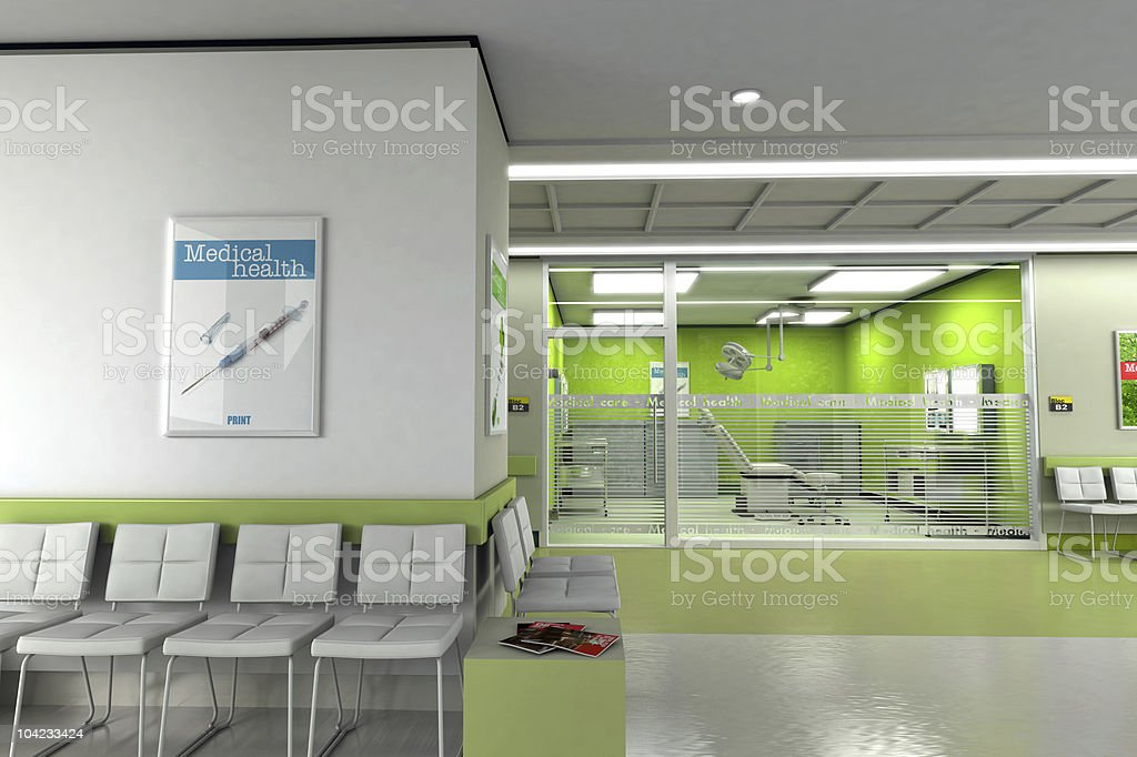 Clinic waiting room stock photo
