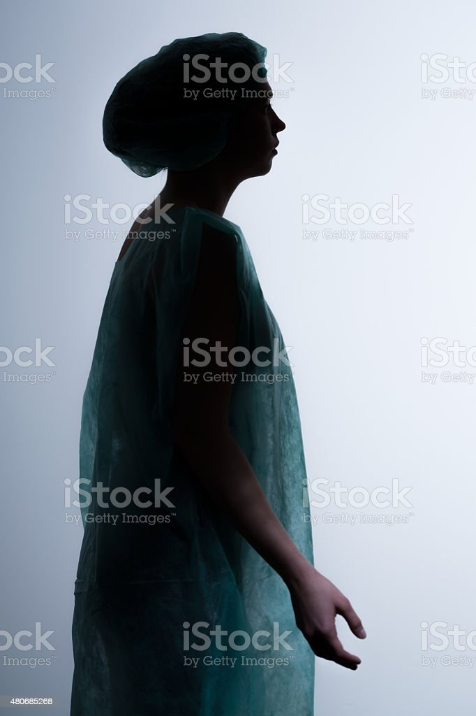 Clinical death young woman stock photo