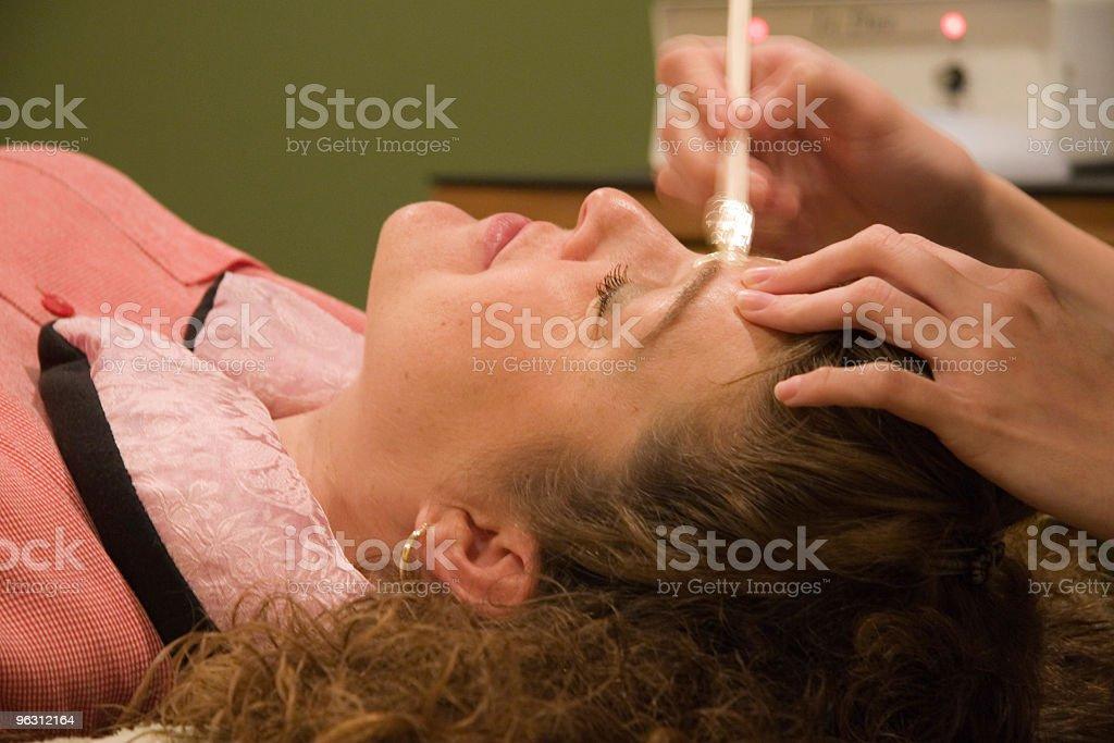 Clinical Facial Procedure royalty-free stock photo