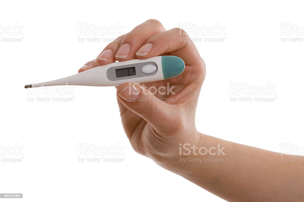 clinical thermometer stock photo