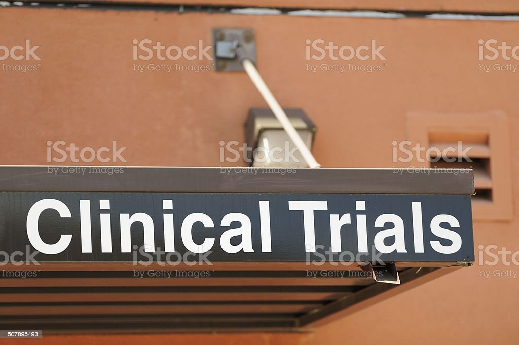 Clinical trials sign stock photo