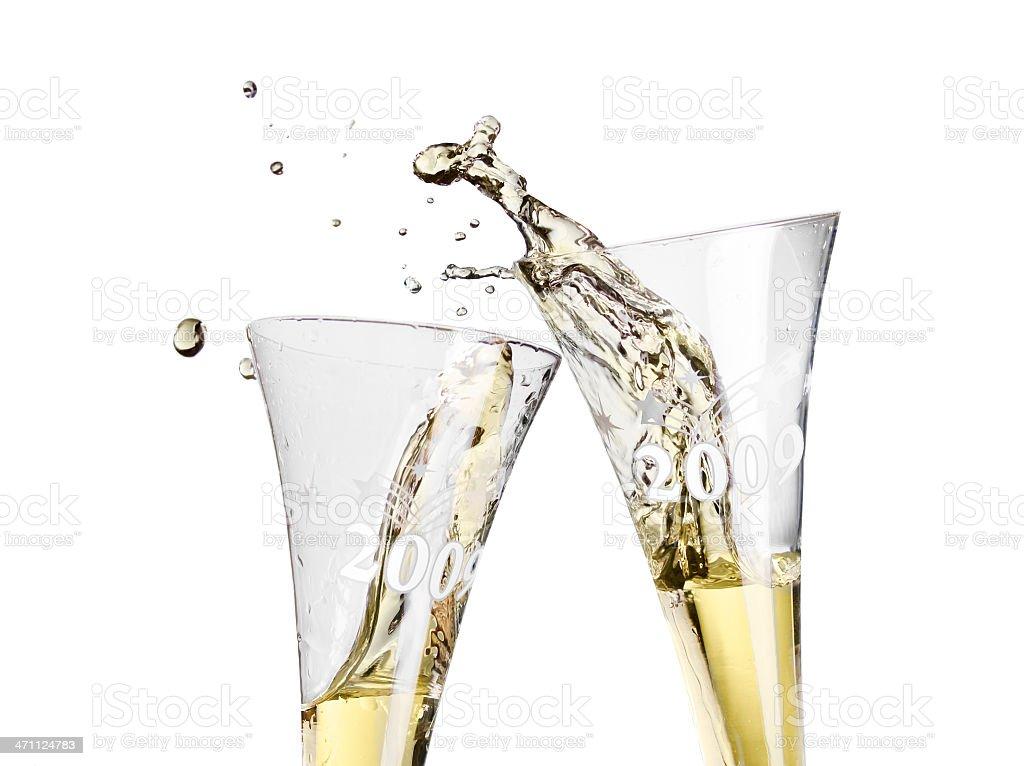 Clinking Glasses royalty-free stock photo