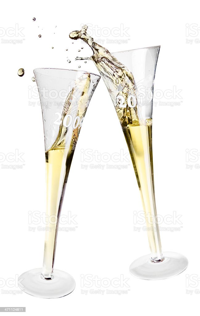 Clinking Glasses royalty-free stock photo