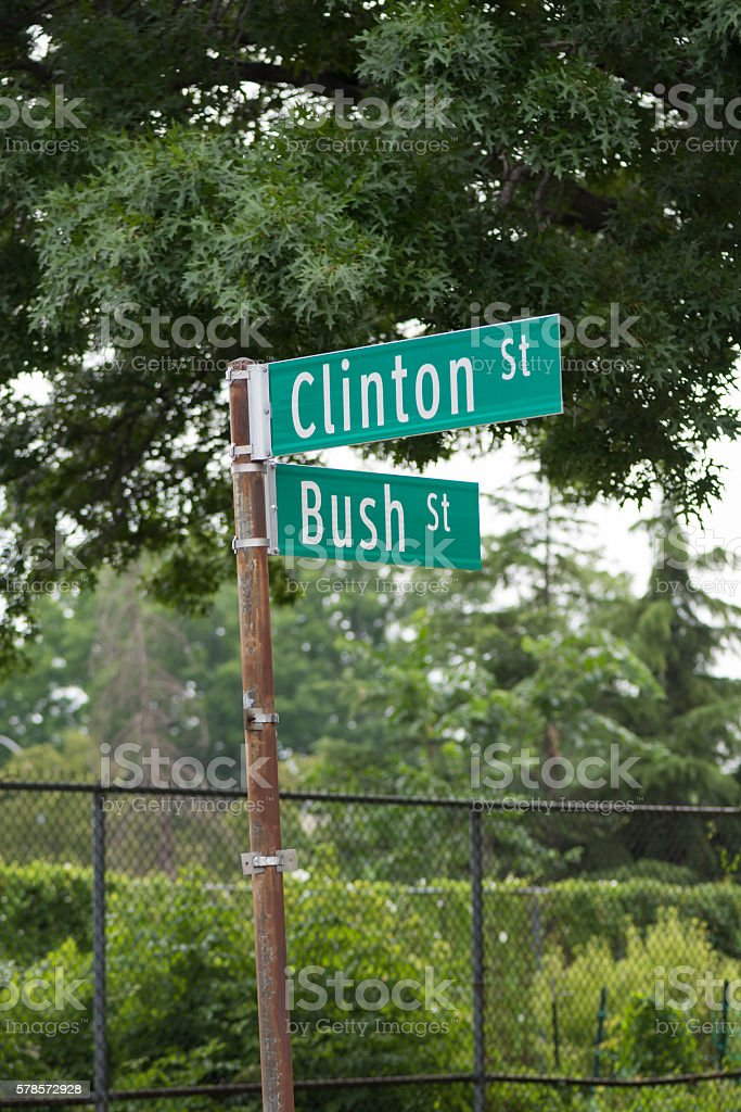Clinton and Bush Streets in Brooklyn, New York stock photo