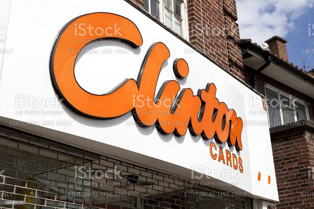 Clinton Cards shop fascia royalty-free stock photo