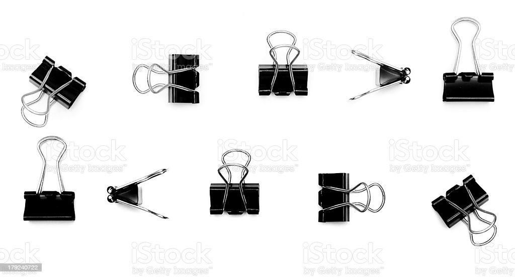 Clip on a white background. royalty-free stock photo