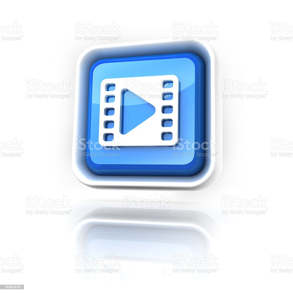 Clip Or streaming Icon royalty-free stock photo
