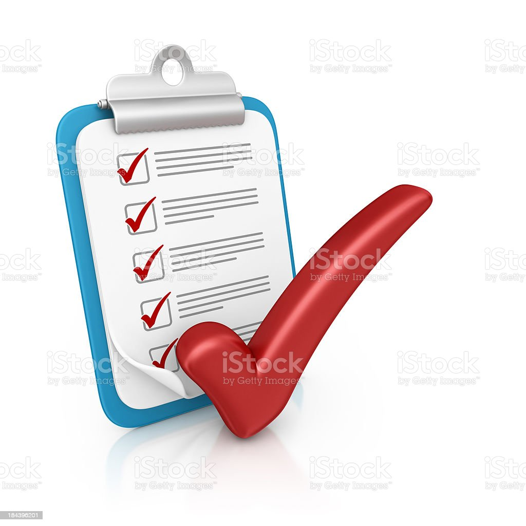 clipboard and check mark royalty-free stock photo
