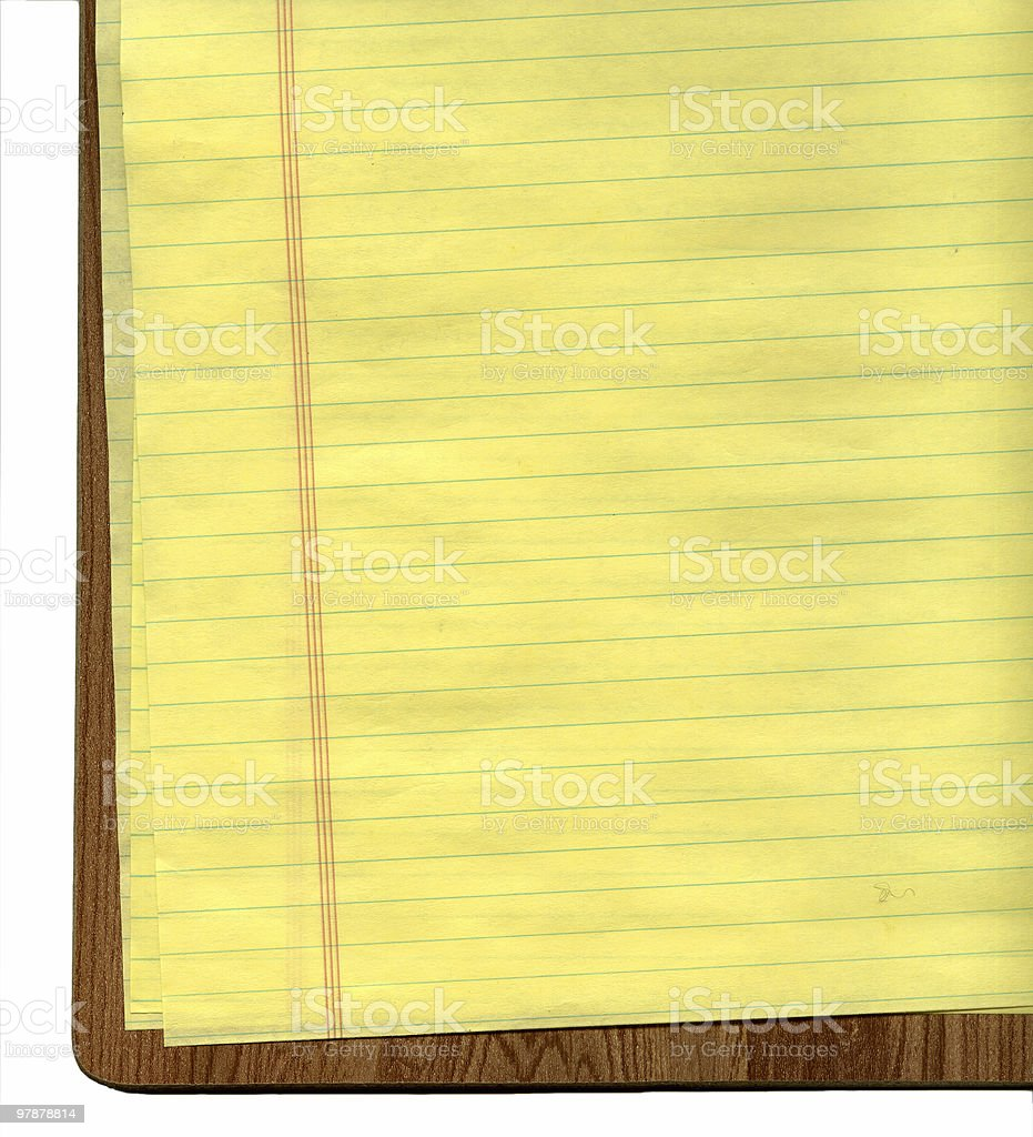 clipboard and paper royalty-free stock photo