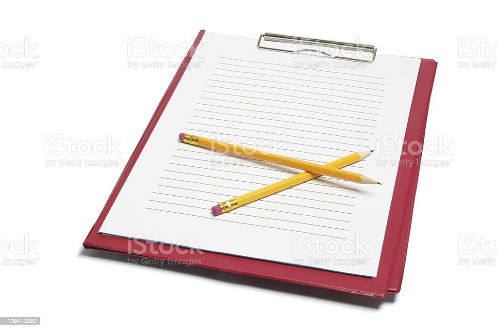 Clipboard and Pencils stock photo