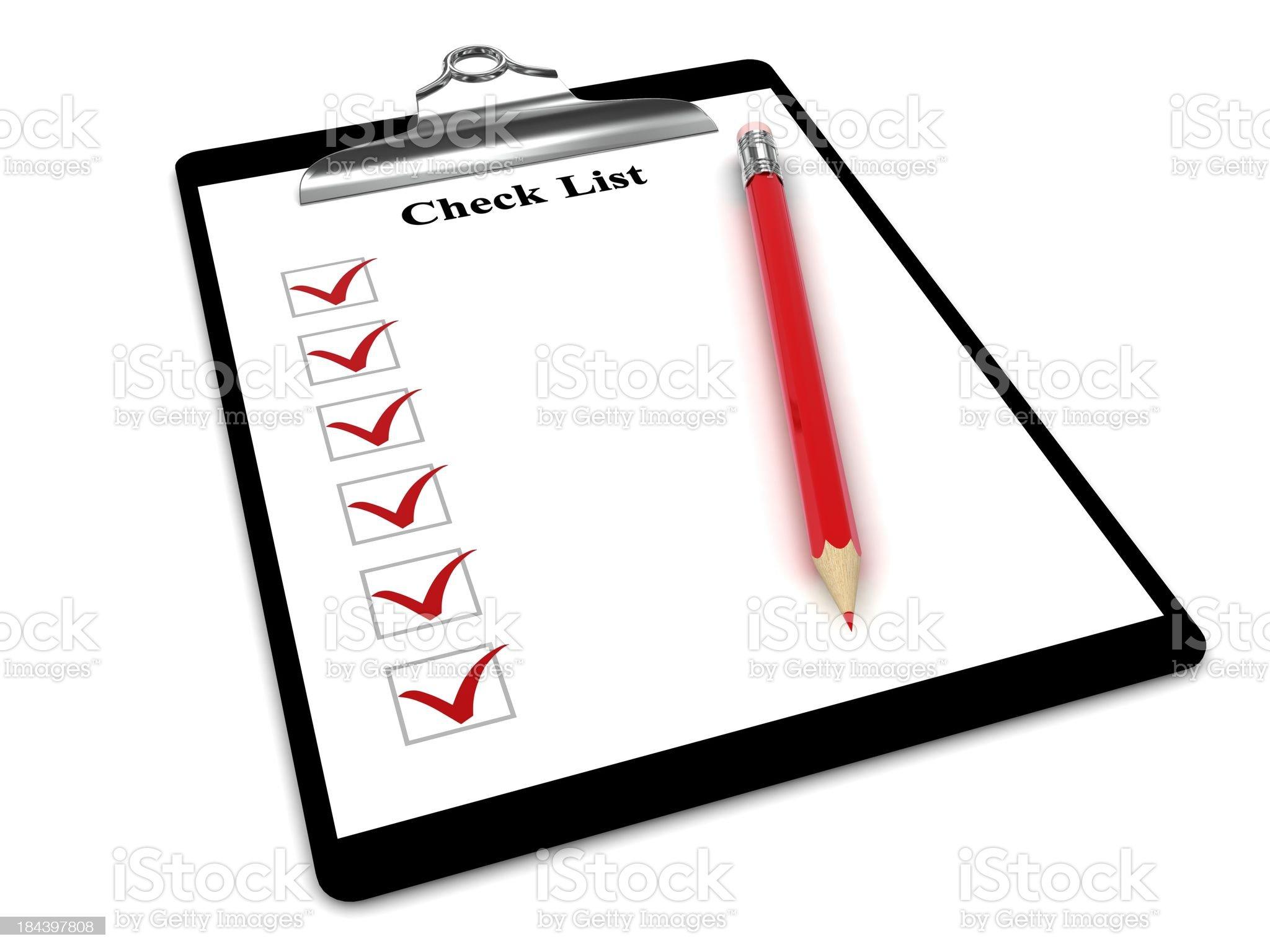 Clipboard Checklist royalty-free stock photo