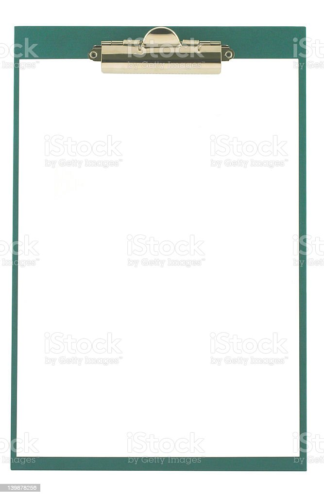 clipboard on white royalty-free stock photo